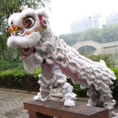 սպիտակ չինական առյուծի զգեստները - Կարնավալային հագուստները - Լուսանկար 1