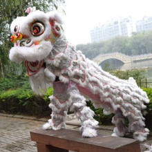 white chinese lion costume chinese lion dance costume lion dancer costumes festival props festival supplies