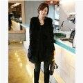 Faux Fur Vest Gilet Fourrure Rabbit Fur femme Vest Outwear Long Coat Special Slim Ladies Coats of Fur Women Brown Plus Size