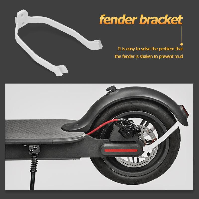 Rear Fender Frame Replacement With Light For Electric Scooter Mudguard Part