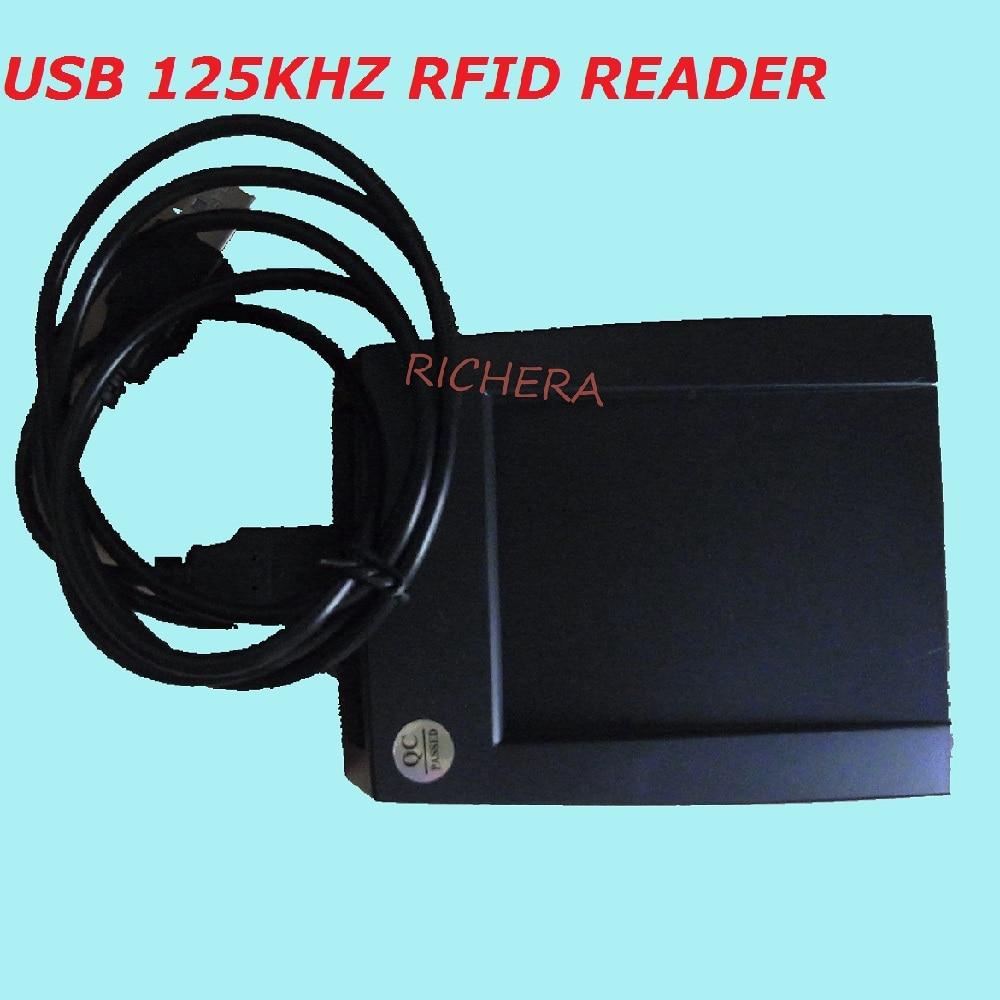 Řízení přístupu 125kHz USB RFID čtečka čipových karet Kompatibilní EM100 Bezdotykový senzorový systém Doprava zdarma