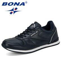 BONA 2019 nowe popularne odkryte trampki męskie buty rekreacyjne dla dorosłych antypoślizgowe obuwie męskie jesień wytrzymałe obuwie męskie wygodne