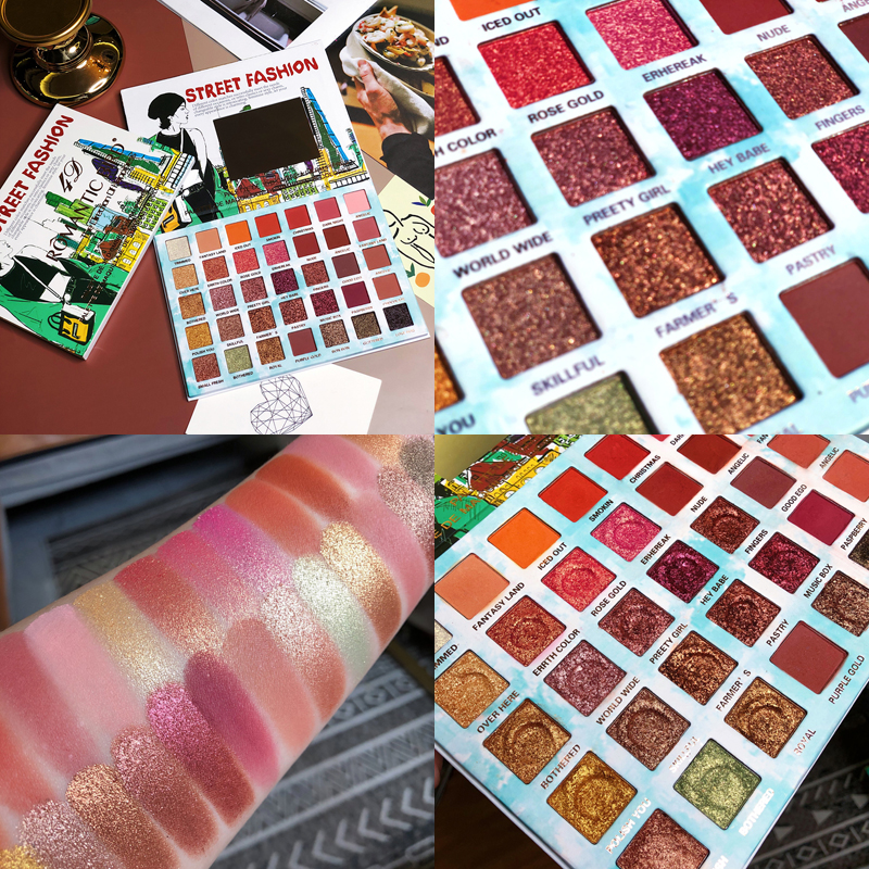 Buy Professional 35 Colors Eyeshadow Palette Shimmer matte Natural Bright Waterproof eye shadow make up for summer for only 15.88 USD