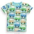 Nuevo 2017 Calidad Algodón de la Marca Bebé Niños Ropa Para Niños Ropa de Manga Corta Niños Niño camisetas Camisetas Camisetas Niños Blusa