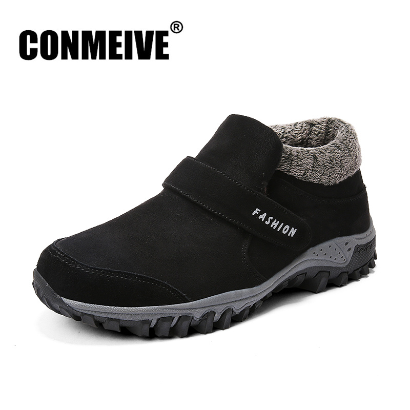 Winter Hot Sale Fashion Casual Shoes Men Breathable Mens Loafers Luxury Brand Designer Light Slip on Man Warm Snow Shoes