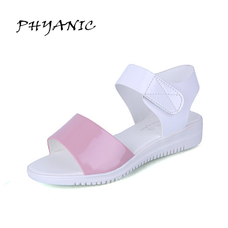 PHYANIC 2017 Summer Style Women Sandals Wedge Female Sandals Low Platform Wedges Platform Open Toe Casual Sandals For Woman phyanic 2017 gladiator sandals gold silver shoes woman summer platform wedges glitters creepers casual women shoes phy3323