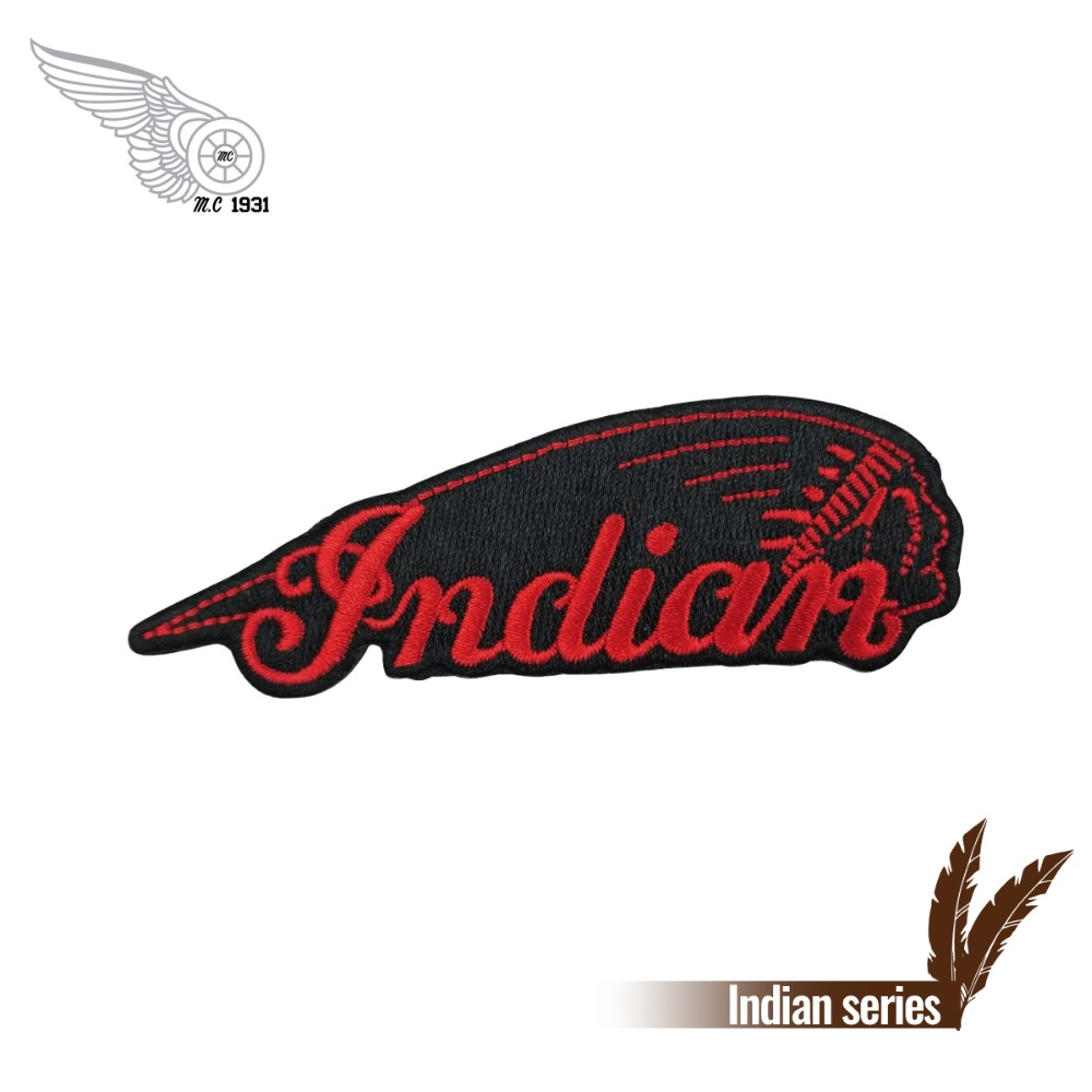 Indian Motorcyles Logo Iron On Biker Patch 1