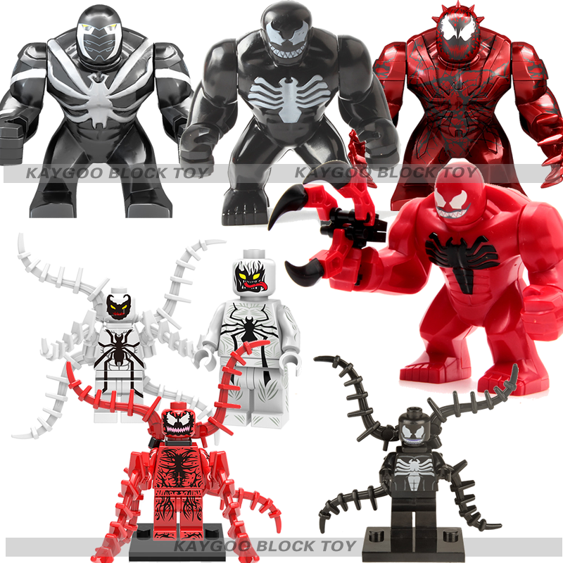 Single Sale Large big siez Super Heroes Avengers Thanos Anti Venom Hulk Carnage Building Blocks Toys for children brinquedos