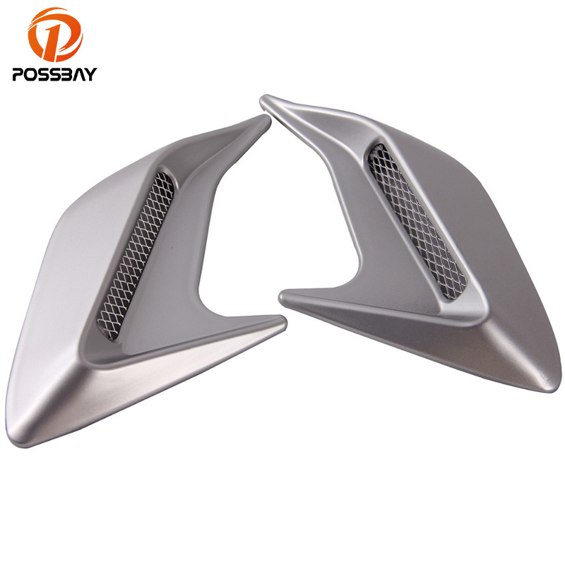 POSSBAY Automobile ABS Plastic Sticker Car Side Air Flow Vent For Fender Hole Cover Intake Grille Duct Grille Decoration