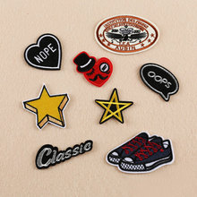 8PCS Patches For Clothing Badge/Star/Shoes/Oops Text Mix Patches For Apparel Bags DIY Accessories