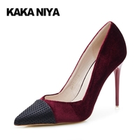 For Sale Western High Heels Red Pumps Italy Women Shoes PU Super High Heel Basic Fall