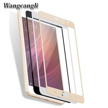 Wangcangli 3d tempered glass For xiaomi redmi 4X protector HD for 4A Full screen cover protection film 9h