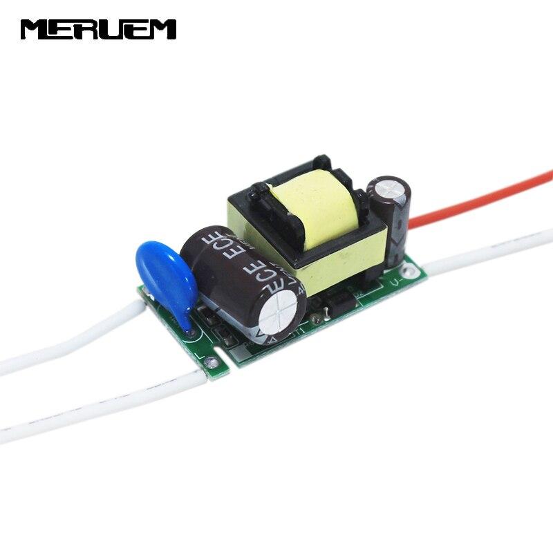 Ingyenes szállítás 6db / tétel (8-12) x 1W-os vezető meghajtó az E27 / GU10 könnyű reflektorfénytranszformátorokhoz 8W 9W 10W 11W 12W tápegység CE