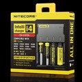 100% Carregador de Bateria Nitecore i2 Originais Novo i2/i4 para 16340 10440 AAA AA 14500 18650 26650 Carregador de Bateria Carregador Universal
