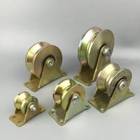 4 Inch Steel V Type Wheel Track Rail Pulley Bearing Sliding Door Gate Roller Loading Weight