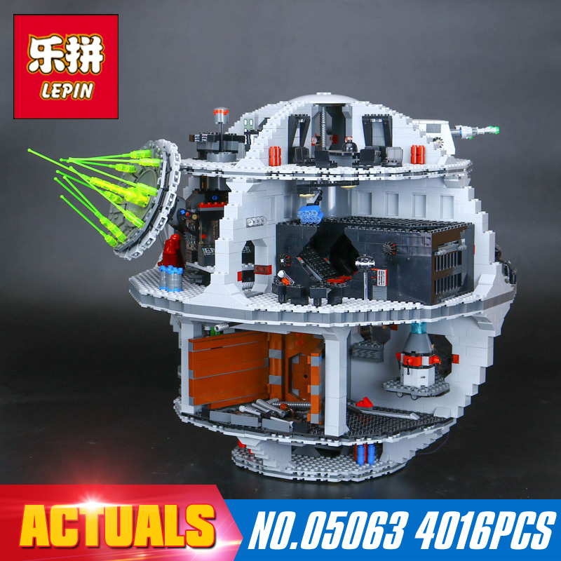 4016Pcs 05063 Lepin  Star Wars Series Death Star Building Block Bricks Toys Kits Compatible with 75159 for Holiday gifts lepin 22001 pirate ship imperial warships model building block briks toys gift 1717pcs compatible legoed 10210
