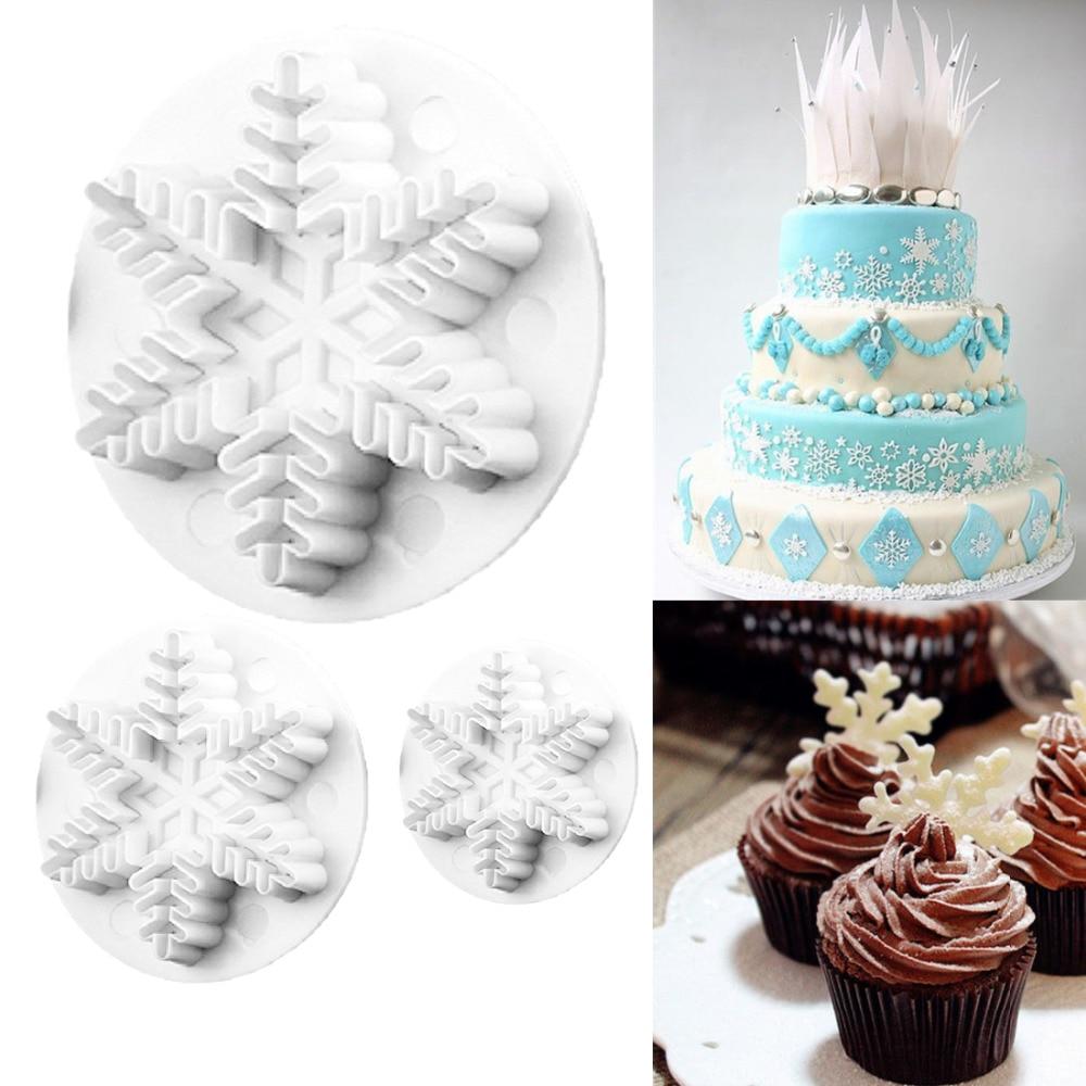 Christmas Cake Cutter Fondant Icing Tool Sugarcraft Decorating Mould Set Tool