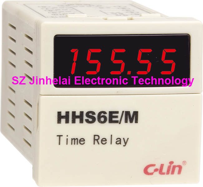 100%New and original C-Lin HHS6E/M Programmable multi loop time relay AC220V DC24V, 0.01s-9999h new and original h3ca 8h dc24v and ac220v omron time relay