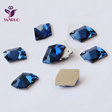 3265 Cosmic 13x17mm 16x20mm 21x26mm Sapphire Strass Crystal Rhinestones Sew On Crystals For Clothes Glass Rhinestone