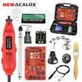 Mini taladro eléctrico NEWACALOX EU/US 220V 260 W, amoladora de velocidad Variable, accesorios de grabado, herramientas rotativas dremel