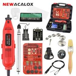 NEWACALOX UE/EUA 220V 260W Mini Elétrico Moedor de Velocidade Variável Broca Moagem Máquina De Gravura Acessórios Dremel Rotary ferramentas