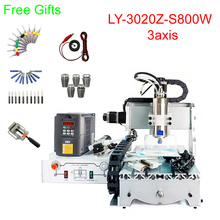 Mini cnc metal milling machine 3020Z-S800 3axis CNC engraving machine 800W water cooling spindle