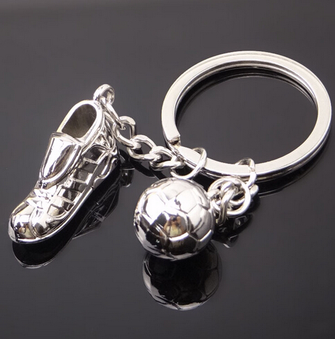 Metal Keychain New Key Chain - Fashion Hot High Quality Soccer Shoes And Football Metal Car Key Ring Gift Bag Keychain