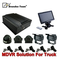 HDD MDVR Kit Train Mobile DVR Kit With 5 Cameras Video Recorder Railway Security System