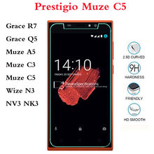 الزجاج المقسى ل Prestigio و غريس Q5 واقي للشاشة فيلم ل Prestigio و Muze A5 C3 C5 Wize N3 NV3 NK3(China)
