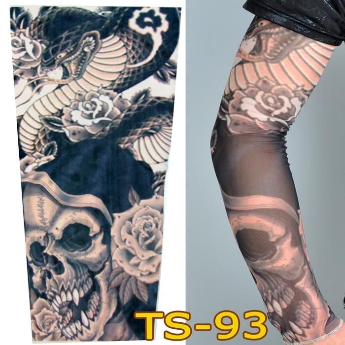 1 pc tattoo sleeves w 98 styles elastic fake 100 nylon for Best fake tattoos