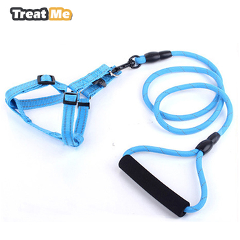 Outdoor Reflective Firm Pet Dog Harness Nylon Large Dog Leashes Pet Traction Rope Collar Set Safety Pet Harness Dogarnes