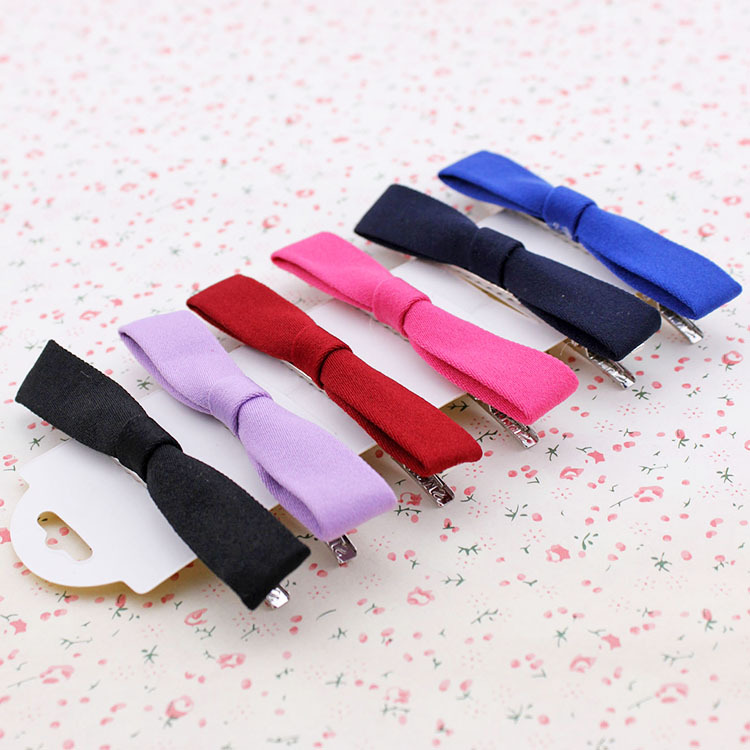 Edition small and pure and fresh cloth art bowknot hairpin duckbill clip, free home delivery han edition hair pearl four petals small clip hairpin edge clip a word free home delivery