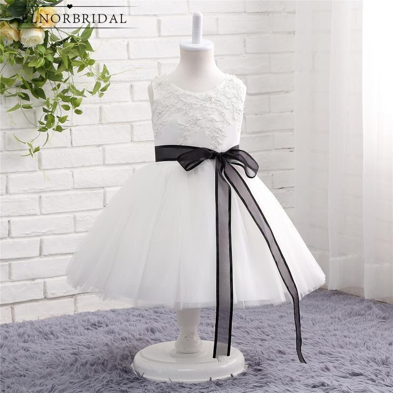 Elegant Vestido Daminha Floor Length   Flower     Girl     Dresses   2019 Applique Lace Tulle A Line Little Toddler   Girls   Communion   Dress