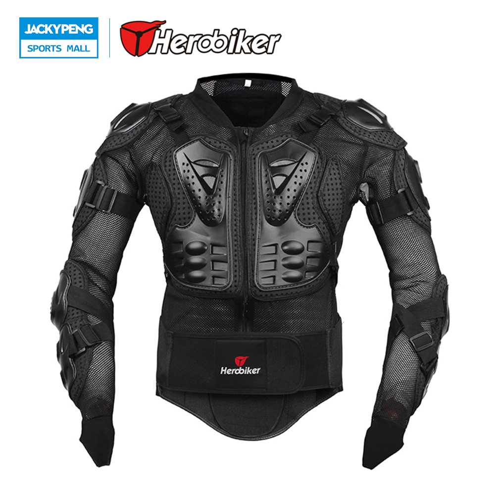 HEROBIKER New Motorcycle Armor Body Uard Body Armor Motocross Ear Jacket Back Support Black Racing Motorcycle Jacket herobiker back support armor removable