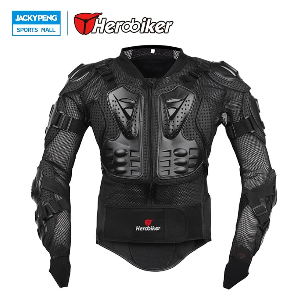 HEROBIKER nouvelle moto corps garde corps Protection Gear Motocross oreille veste soutien arrière noir course moto veste