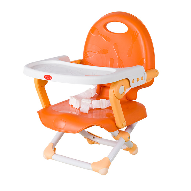 Portable Baby Dining Chair Multifunctional Folding Booster Seat Highchair Table Plate Adjule Infant Safety