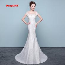 DongCMY LD0814 Wedding dress Vestido de noiva New Arrival long Married white color Mermaid bandage Bridal