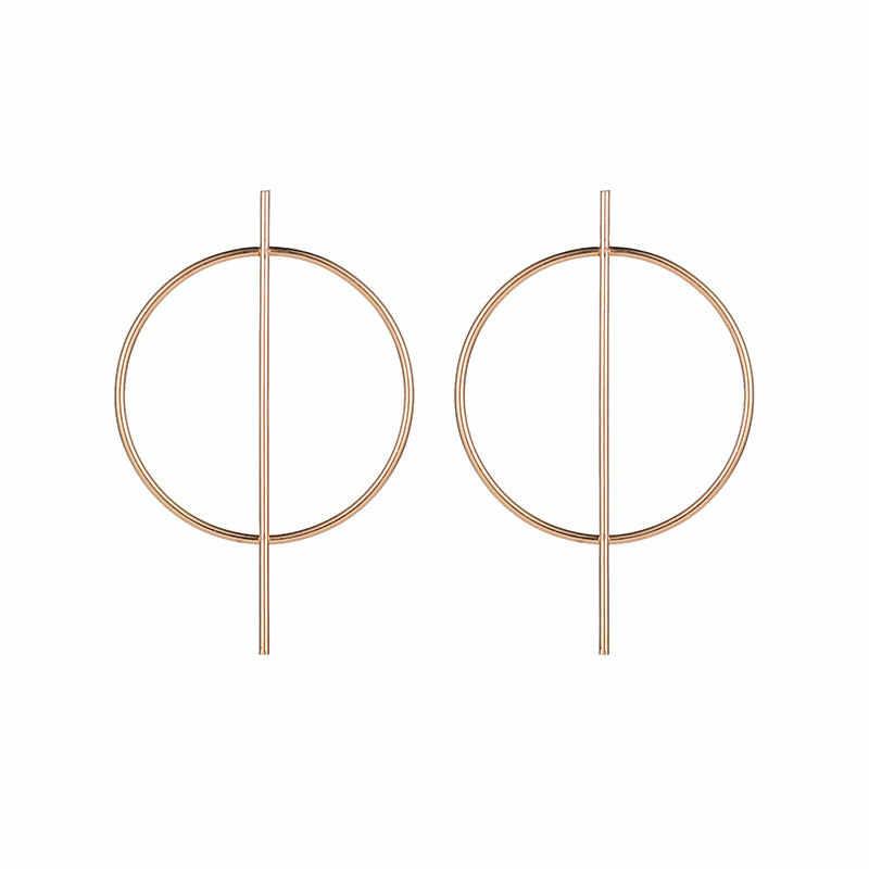 Nuovo Geometrica Orecchini Per Le Donne Oro/Argento Colore Rotonda Piazza Dorp Appeso Orecchini Femminile Gioielli Moderni Accessori