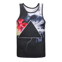 Women Men S O Neck 3D Printing Galaxy Tank Top Printed Geometric Pattern Unisex Tank Sleeveless