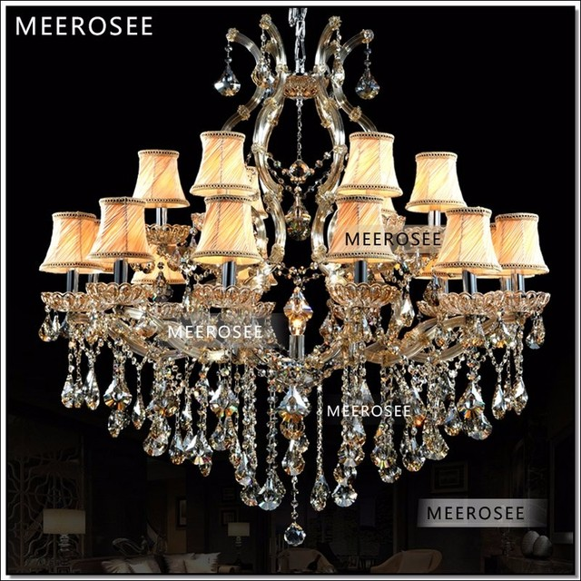 Incandescent Luminaire Suitable For Led Bulb Antique Hanging Lamp Crystal Chandelier Meerosee Chrystal Light Fixture