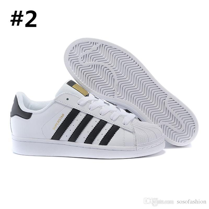 Casual-Shoes Shell Sport-Sneakers Outdoor Super-Star Unisex Women for Toe 3-Bar Sapatilhas