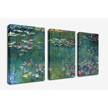 Water Lilies by Claude Monet Oil Painting Canvas Prints Wall Art Modern Giclee Wall Decor for Home Office Living Room Decoration claude monet modern impressionist windmill at zaandam landscape prints to canvas oil painting home wall art decoration custom