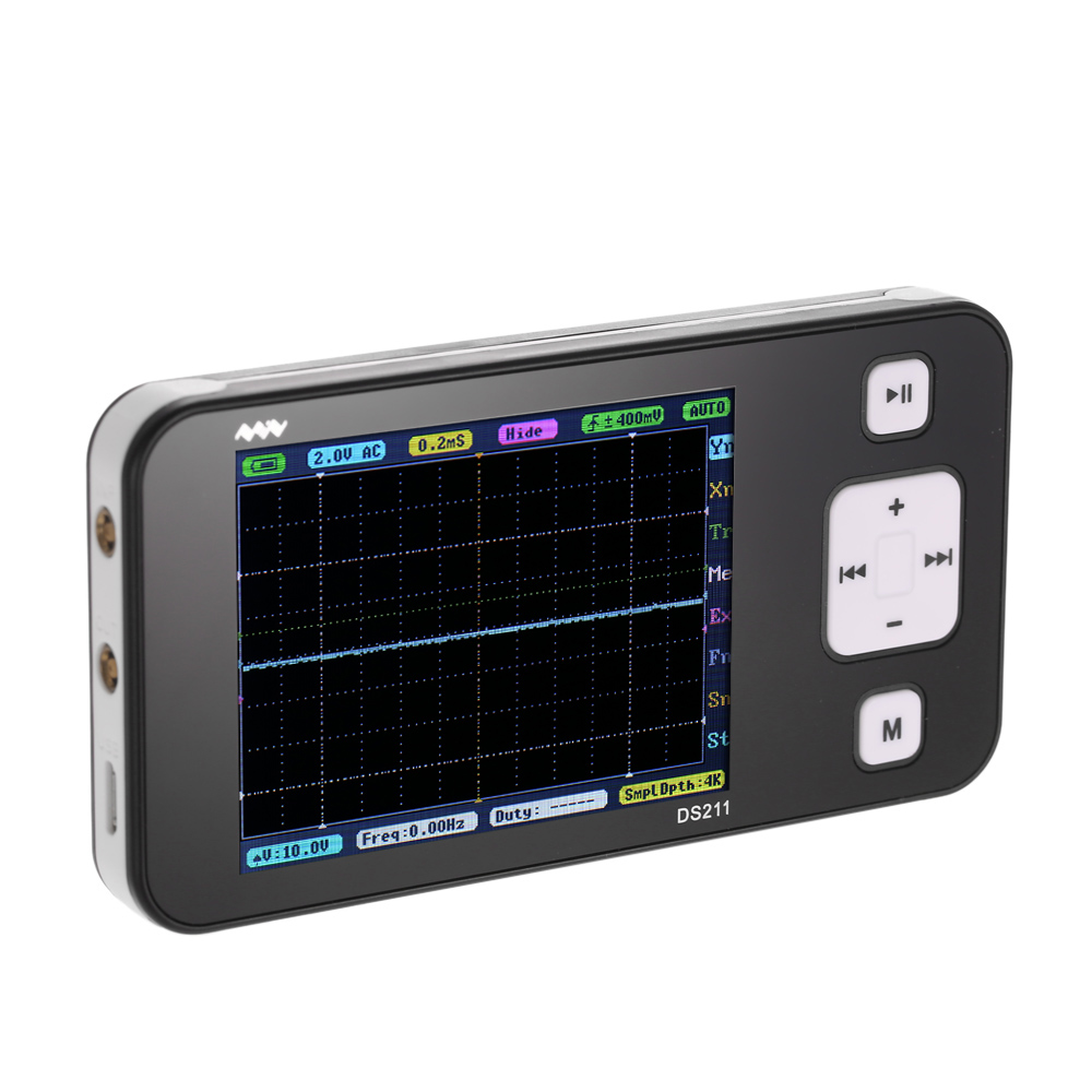 arm dso211 pocket sized handheld oscilloscope 2 8 tft. Black Bedroom Furniture Sets. Home Design Ideas