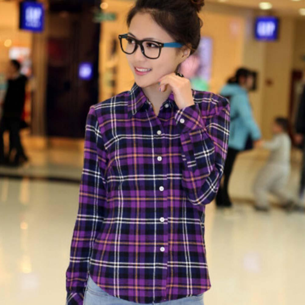 Popular flannel shirts women buy cheap flannel shirts for Girl in flannel shirt