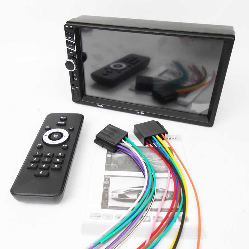 """2 din carplay カーラジオの android 自動 MP5 ビデオプレーヤー bluetooth ハンズフリー usb 7 """"タッチスクリーンステレオオーディオヘッドユニット phyee 7013B"""