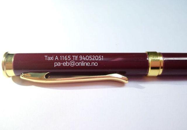 Prix de gros brun rouge stylo en métal top marque de luxe rouleau