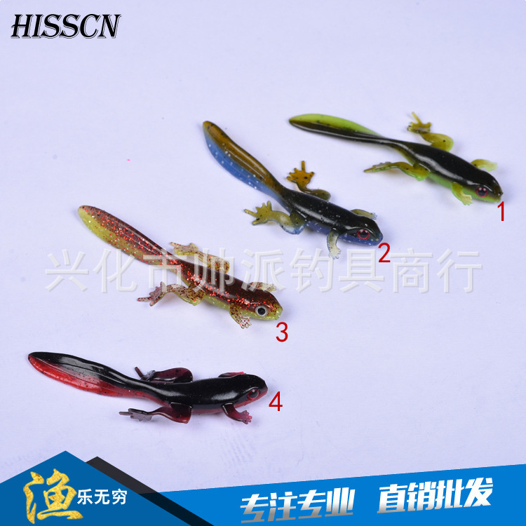 1pc Silicone Soft Frog Bait Fishing Lure 80mm 3 8g Rubber Worm Tadpole Wobblers Lifelike Lake Fishing Isca Artificial Shad Pesca in Fishing Lures from Sports Entertainment