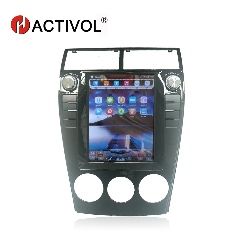 Hactivol Vertical 10.4 car radio stereo dvd gps navigation for Mazda 6 old android 4.4 car dvd player with 1G RAM 32G ROM