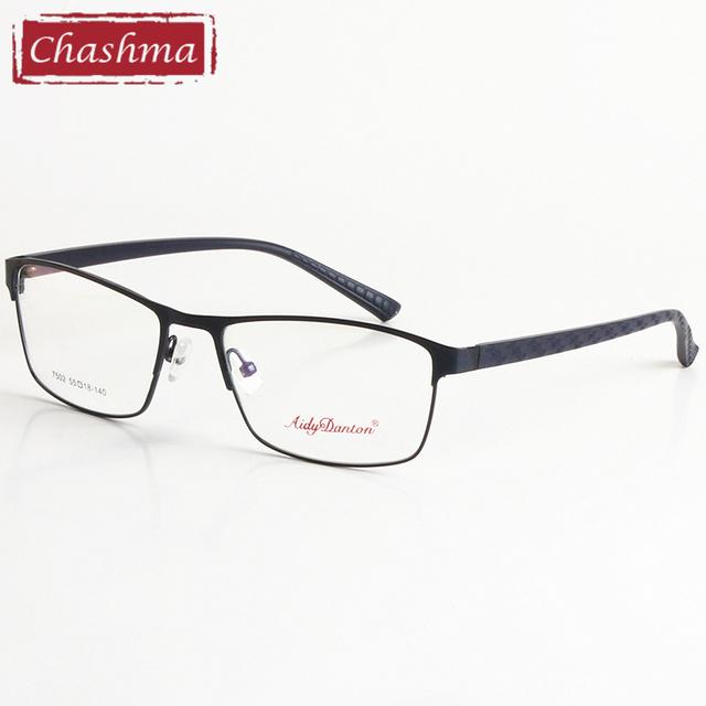 Chashma Grandes Anteojos Recetados Hombres Gafas de Marco Marcos de Los Vidrios Ópticos de Diseño Clásico para Hombres