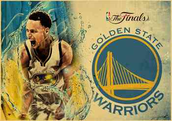 Basketball Star Stephen Curry Retro Poster Prints High Quality  Wall Stickers  For Living Room Home Decoration 5